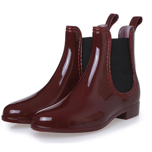 Spring Women Ankle Boots Girl Rainboots Chelsea Boots Autumn Waterproof Footwear Ladies Rubber Shoes Anti-Skid Shoes Mujer Botas