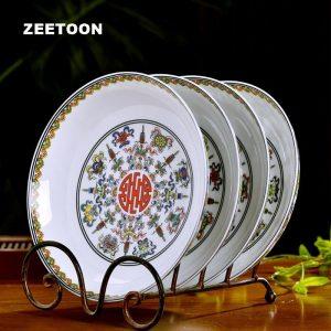 8inch Jingdezhen Decor Plate Ceramic Bone China Art Dinner Plates Round Dish Fruit Pastry Container Saucer Tableware Dinnerware