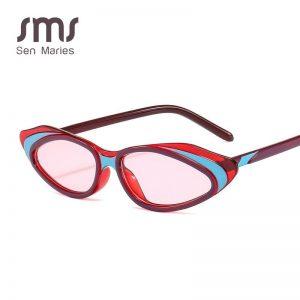 2019 New Small Frame Tri-color Cat Eye Sunglasses Women Men Fashion Brand Designer Vintage Sun Glasses Female Eyewear UV400