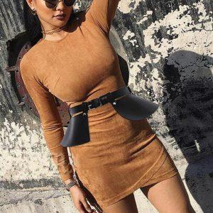 Women Punk Gothic Leather Harness Belt Body Bondage street removable design PU leather belt dual-use Waist Strap Belt Skirt