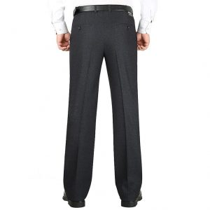 MOGU 2019 New Men's Pants High Quality Smart Casual Pants Stretch Male Trousers Man Long Straight 29-50 Large Size