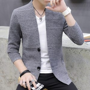 2020 knitting cardigan male v-neck outer wear in the spring and autumn light fashion handsome recreational sweater