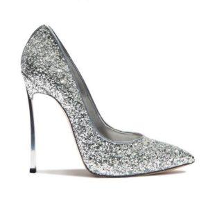 Gullick women Sexy Bling Bling Sequin Blade Heel Pump Pointed Toe Slip-on High Heel Dress Shoes Metal Heel Glitter Shoes