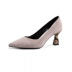 Krazing pot sexy leopard oxford pointed toe slip on high heels natural leather shallow pumps streetwear model runway shoes L11