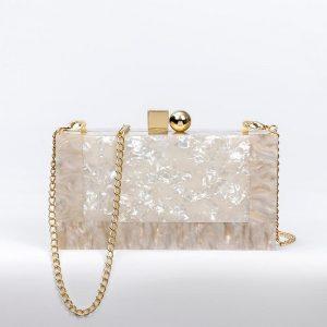 Acrylic Evening Clutch Bags Lady Party Wedding Evening Bags Purse Handbags Chain Shoulder bag For Women 2020