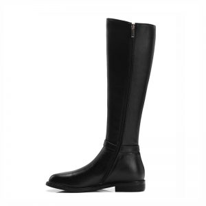 Phoentin knee high riding boots with zipper 2019 genuine leather equestrian long boots women flat heels round toe shoes FT559