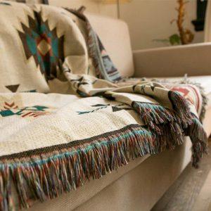 Bohemian Geometric Blanket Mandala Rug Sofa Cover Tapestry Throw Towel Bedding Sheet Adults Kids Home Travel Cobija Cobertor