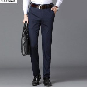 2019 New spring and autumn Men's Pants Business Long trousers men high quality Classic Casual Trousers Pant Male straight-leg pa