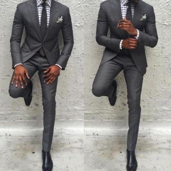 Hot Sale Men Pants Suit Slim Fit Jacket Best Man Business Party Classic Tuxedos 2 Pieces Prom Costume Homme Jacket+Pants