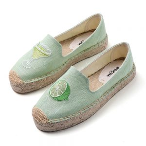 2019 Spring platform smoking slippers, women platform espadrilles loafers