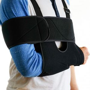 Medical Arm Sling Shoulder Brace Best Fully Adjustable Rotator Cuff  Elbow Support Includes Immobilizer Band for Quick Recovery