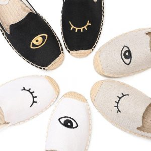 2019 Time-limited Limited Ballet Flats Hemp Cotton Fabric Sapatos Zapatillas Mujer Casual Tienda Soludos Espadrilles For Flat
