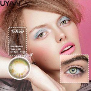 2pcs Colored Contact Lenses Eye Rio Series Contact Lenses Color Contact Lens for Eyes lentes de contacto UYAAI