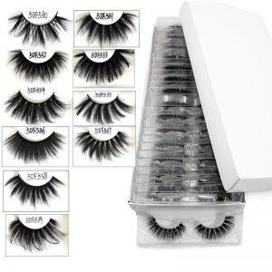 5D 25mm Mink Lashes Wholesale Handmade Full Strip False Eyelashes In Bulk Long Fluffy Eyelash Extension Tool 10/20/30 Pairs/Lot