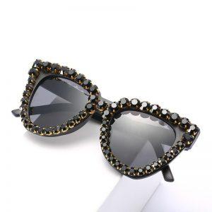 2020 New Vintage Fashion Luxury Cat Eye Diamond Sunglasses Women Crystal Rhinestone Frame Brand Designer Sun Glasses For Female