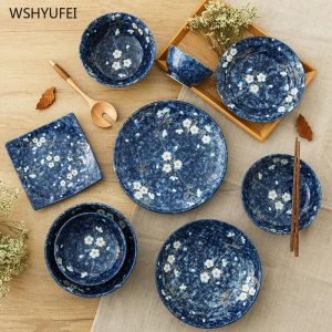 Japanese-style dinner plate ceramic dinner plate service plate round cake plate western-style steak round plate kitchen board