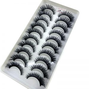 NEW 10Pairs 3D Faux Mink Eyelashes Natural Thick Long False Eyelashes Dramatic Fake Lashes Makeup Extension Eyelashes maquiagem