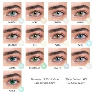 2pcs Yearly 14.2mm Contact Lenses For Eyes Colored Contacts Circle Lenses Natural For Natural ttdeyes Uyaai