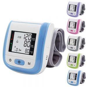 Medical Health Care Wrist Tensiometro Digital Blood Pressure Heart Monitor Tonometer Automatic Sphygmomanometer BP Cuff Meter