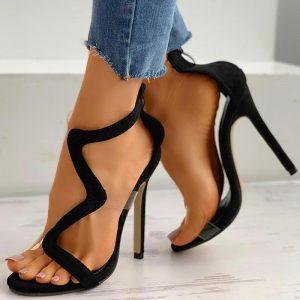High Heels Women Shoes Sandals Transparent Sexy Snake-Shaped Women Sandals Design Stiletto Heel Gladiator Pumps Women Shoes