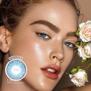 2pcs/pair Colored Contact Lenses Eye 3 Tone Series Contact Lenses Color Colorful Contact Lens for Eyes Cosmetic Makeup Beauty