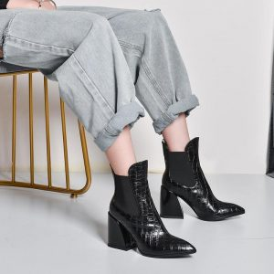 Women ankle boots natural leather 22-26.5CM European and American Leather upper and lining online celebrity Chelsea boots