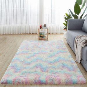 Colorful Thicken Encryption Plush Carpet For Living Room Bedroom Anti-Slip Floor Mat Fashion Kitchen Carpet Area Rugs Yoga Mat