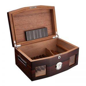 Big Capacity 100 Cigars Cedar Wood Cigar Humidor W/Locked Humidifier Hygrometer Tobacco Cigarette Case Box Holder For COHIBA