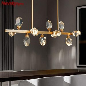 Luxury ceiling chandeliers dining room crystal chandelier bedroom brass chandelier lighting kitchen fixtures led copper lustres