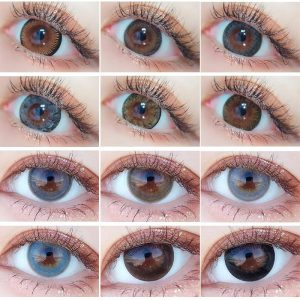 Colored Contact Lens Yearly Use Cosmetic Contact Lenses Eye Color Contact Len for Eyes 14.5mm Beautiful Pupil multicolored lens