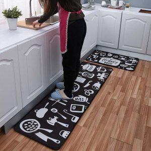 Cartoon Long Non-Slip Kitchen Mat Cover Absorbent Entrance Door Mat Prayer Carpet Bath Carpet Outdoor Corridor Area Carpet