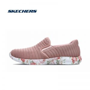 Skechers Women Flat Shoes Casual Loafers Slip On Shoes Woman Genuine Comfortable Lightweight Flats Sport Shoe Woman 66666087-ROS