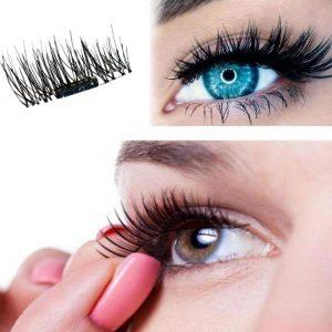 3D Reusable Artificial Dual Magnet Eyelashes Ultra Thin No Glue Magnetic Artificial Eye Lash Natural Handmade Extension Eyelash