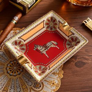 2020 New Arrival Cigar Ashtray European Style Large Home Living Room Decoration Gift Box Package Ceramic Cigar Ashtray