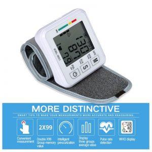 Medical Digital  Wrist Blood Pressure Monitor Automatic Tonometr BP Measurement Presion Arterial Tensiometro Sphygmomanometer