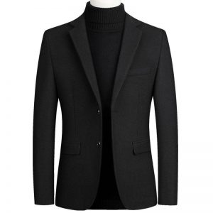 High Quality Men's Wool Suit Coat Wool Blends Casual Blazers Men Suit Top Male Solid Business Casual Mens Coats and Jackets