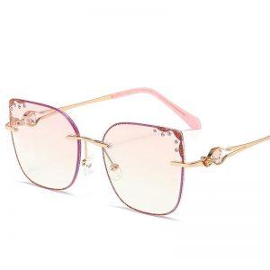 2020 Star Style Polarized Pink Women luxury Glasses Rhinestone Sunglasses Brand Designer latest female UV400 ladies Sun Glasses