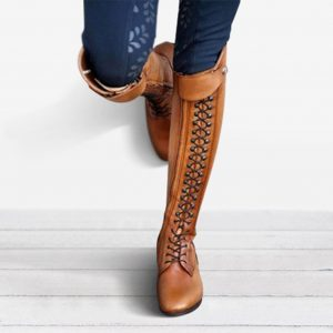 JAYCOSIN Cool Women Rider Horse Riding Boots Smooth Leather Knee High Boots Autumn Winter Warm High Boots Mountain Riding Boots
