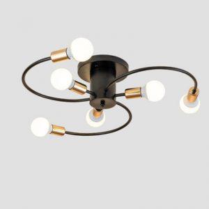 American style Creative Chandeliers E27 bulb led lamps 6 light bulb modern Chandelier living room led lustre Chandelier lighting
