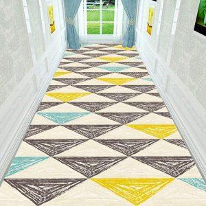 Long Hallway Rug 3D Nordic Geometric Stair Carpet Home Floor Runners Rugs Hotel Entrance/Corridor/Aisle/ Party/Wedding Floor Rug