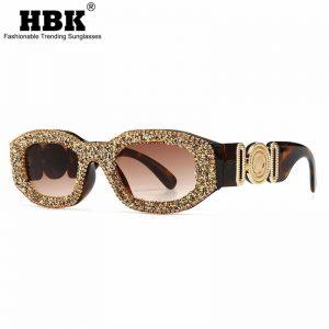 Retro Rock Style Sunglasses Diamond Shaped Women Men Metal Large Decorate Modern Vintage Charm Party Sun Glasses