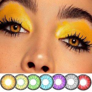 2pcs/pair Colored Contact Lenses Eye Vika tricolor Series Contact Lenses Color Cosmetic Contact Lens for Eyes lentes de contacto