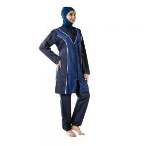 YONGSEN 2020 Summer Burkinis Islamic Muslim Swimwear Conservative Sport Hijab Trousers Hooded Elegant Fashion Beachwear Swimsuit