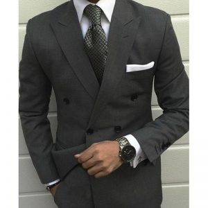 Latest kingsman Smoking Grey Jackets men wedding suit Prom Tuxedo Slim Fit 2 Pieces Custom Groom mens suits terno masculino