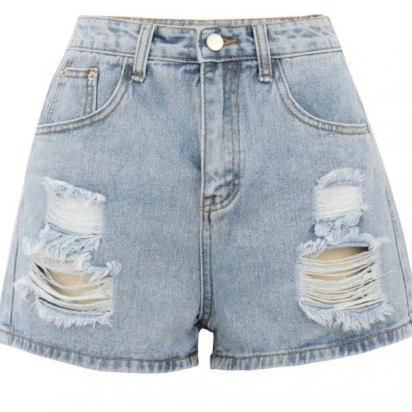 2021Summer Casual Shorts Female High Waist Shorts Fashion Women's Denim Shorts Boyfriend Style Denim Shorts Women's Shorts Denim