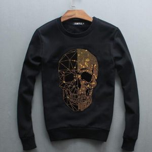 Sweatshirt Men Diamond design Hoodie  Hip Hop Crewneck Sweatshirts Winter Autumn  Design Brand Clothing
