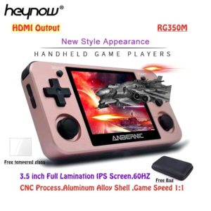 """2020 RG350M Retro Game Console 3.5"""" IPS Screen PS1 Arcade Emulator Metal Shell Linux OS HDMI Output Mini Video Game Player RG350"""