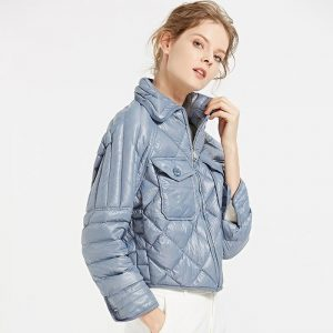 Janveny Winter Jacket Women 2020 Ultra Light White Duck Down Coats And Jackets Casual Female Parkas For Women Feather Clothes
