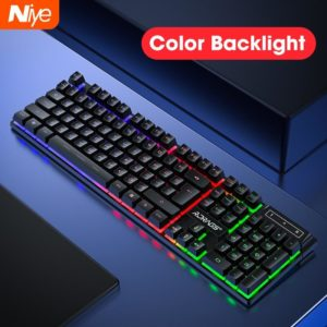 Gaming Keyboards Mechanical Feeling Keyboards with Backlight for Computer Tablet PC Gamer PC Laptop Not Wireless Keyboard