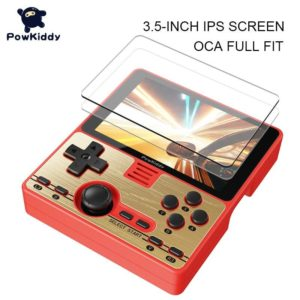 """POWKIDDY RGB20 3.5 """" IPS Full-Fit Screen Built-in Wifi Module Multiplayer Online Game RK3326 Open Source Handheld Game Console"""